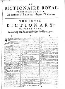 The Royal Dictionary, French and English, and English and French ...