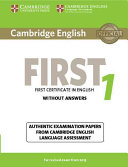 Cambridge English First 1 for Revised Exam from 2015 Student s Book without Answers PDF