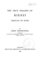 The True Tragedy of Rienzi PDF
