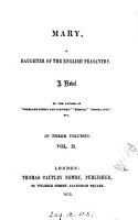 Mary  a daughter of the English peasantry  by the author of  Highland sports and pastimes   PDF
