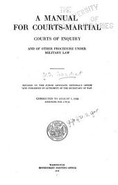A Manual for Courts-martial ...: Revised in the Judge-Advocate-General's Office