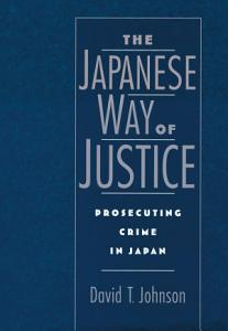 The Japanese Way of Justice Book