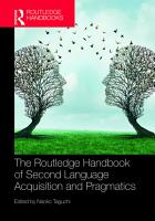 The Routledge Handbook of Second Language Acquisition and Pragmatics PDF