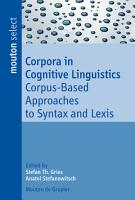 Corpora in Cognitive Linguistics PDF