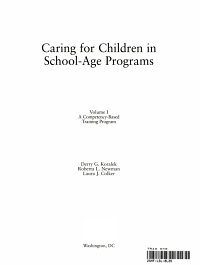 Caring for Children in School age Programs