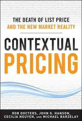Contextual Pricing  The Death of List Price and the New Market Reality