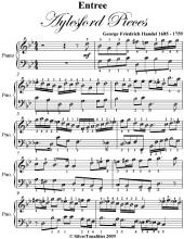 Entree Aylesford Pieces - Easy Piano Sheet Music