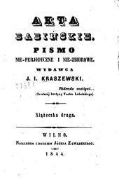 Akta Babinskie: pismo nie-perjodyczne i nie-zbiorowe. Xiąźeczka druga