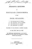 Religious Lectures on Peculiar Phenomena in the Four Seasons     PDF