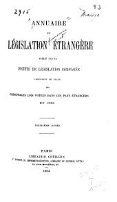 Annuaire de législation étrangère: Volume13