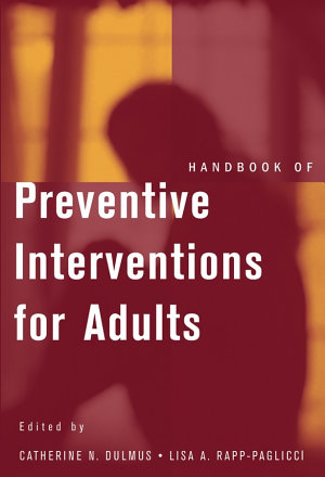 Handbook of Preventive Interventions for Adults PDF