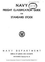 Navy Freight Classification Guide for Standard Stock