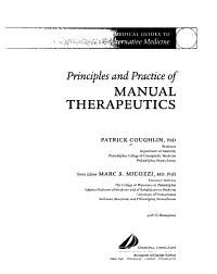 Principles and Practice of Manual Therapeutics PDF