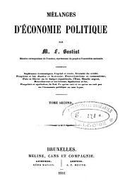 Mélanges d'économie politique: Volume2