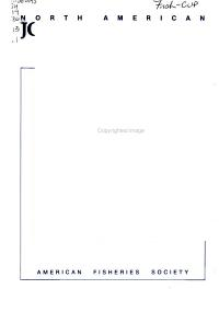 North American Journal of Fisheries Management PDF