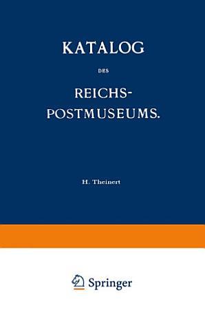 Katalog des Reichs Postmuseums PDF