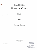 California Rules of Court State 2007 PDF
