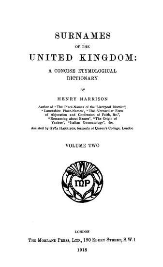 Surnames of the United Kingdom PDF