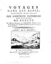 Voyages dans les Alpes: Volume3