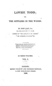 Lawrie Todd: Or, The Settlers in the Woods, Volume 1