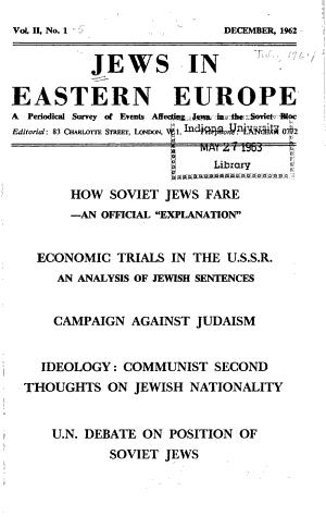 Jews in Eastern Europe PDF