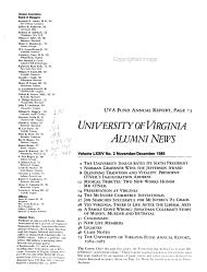 University of Virginia Alumni News PDF