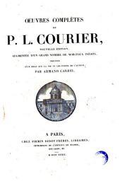 Oeuvres complètes de P. L. Courier