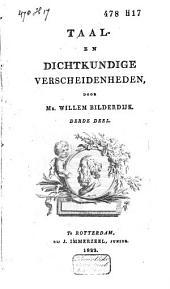 Taal- en dichtkundige verscheidenheden: Volume 3