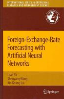 Foreign Exchange Rate Forecasting with Artificial Neural Networks PDF