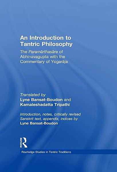 An Introduction to Tantric Philosophy PDF
