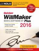Quicken Willmaker Plus 2016 Edition  Book   Software Kit