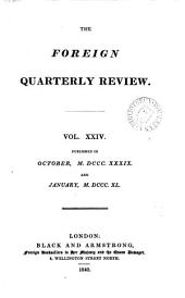 The Foreign quarterly review [ed. by J.G. Cochrane].