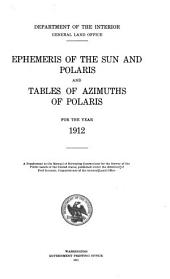 Ephemeris of the sun, Polaris and other selected stars, with companion data and tables