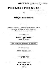 Oeuvres de François Hemsterhuis
