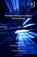 Decision Making in Complex Environments PDF