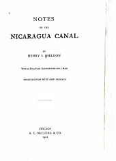 Notes on the Nicaragua Canal
