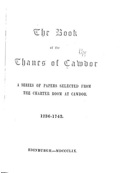 The Thane Of Cawdor
