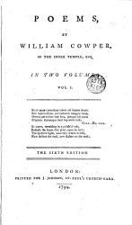 Poems By William Cowper 1 Book PDF