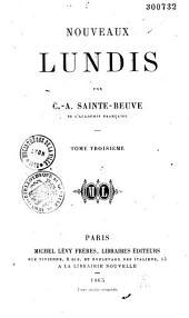 Nouveaux Lundis: Volume1