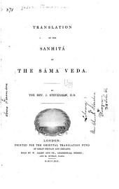 Translation of the Sanhitá of the Sáma Veda