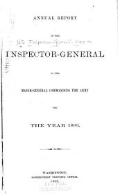 Report of the Inspector General to the Secretary of War ..: 1892-1897