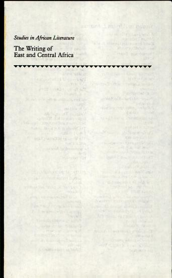 The Writing of East and Central Africa PDF