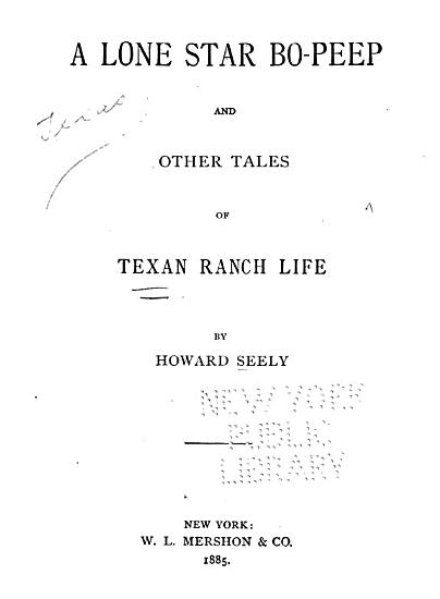 A Lone Star Bo Peep  and Other Tales of Texas Ranch Life PDF