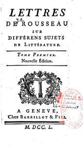 Les lettres sur différents sujets