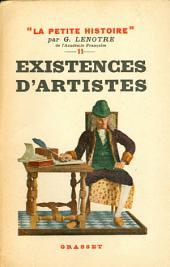 Existences d'artistes: Petite Histoire XI