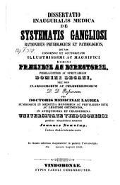 De systematis gangliosi rationibus physiologicis et pathologicis