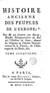 Histoire ancienne des peuples de l'Europe: Volume5