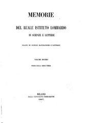 Memorie dell'Istituto lombardo-accademia di scienze e lettere: Classe di scienze matematiche e naturali, Volume 10