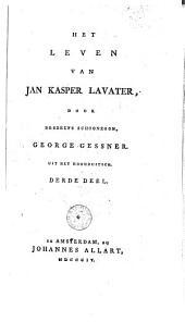 Het leven van Jan Kasper Lavater: Volume 3