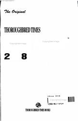 The Original Thoroughbred Times Racing Almanac 2008 PDF